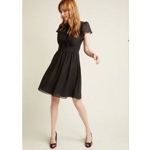ModCloth A-Line Dress with Flutter Sleeves NWT